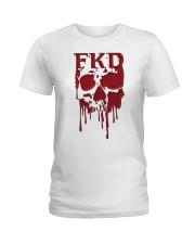 FKD Frankford Philadelphia Dripping Skull Ladies T-Shirt thumbnail