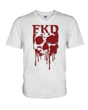 FKD Frankford Philadelphia Dripping Skull V-Neck T-Shirt thumbnail