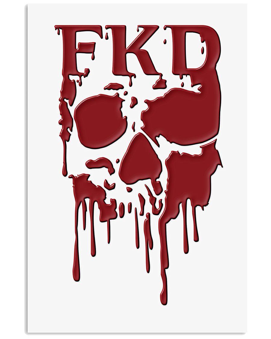 FKD Frankford Philadelphia Dripping Skull 16x24 Poster