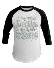 A Face Without Freckles Like a Sky Without Stars Baseball Tee thumbnail
