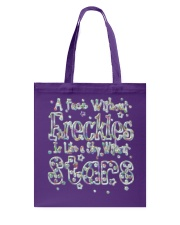 A Face Without Freckles Like a Sky Without Stars Tote Bag thumbnail
