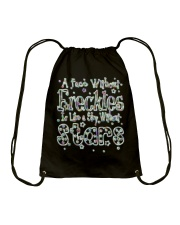 A Face Without Freckles Like a Sky Without Stars Drawstring Bag thumbnail