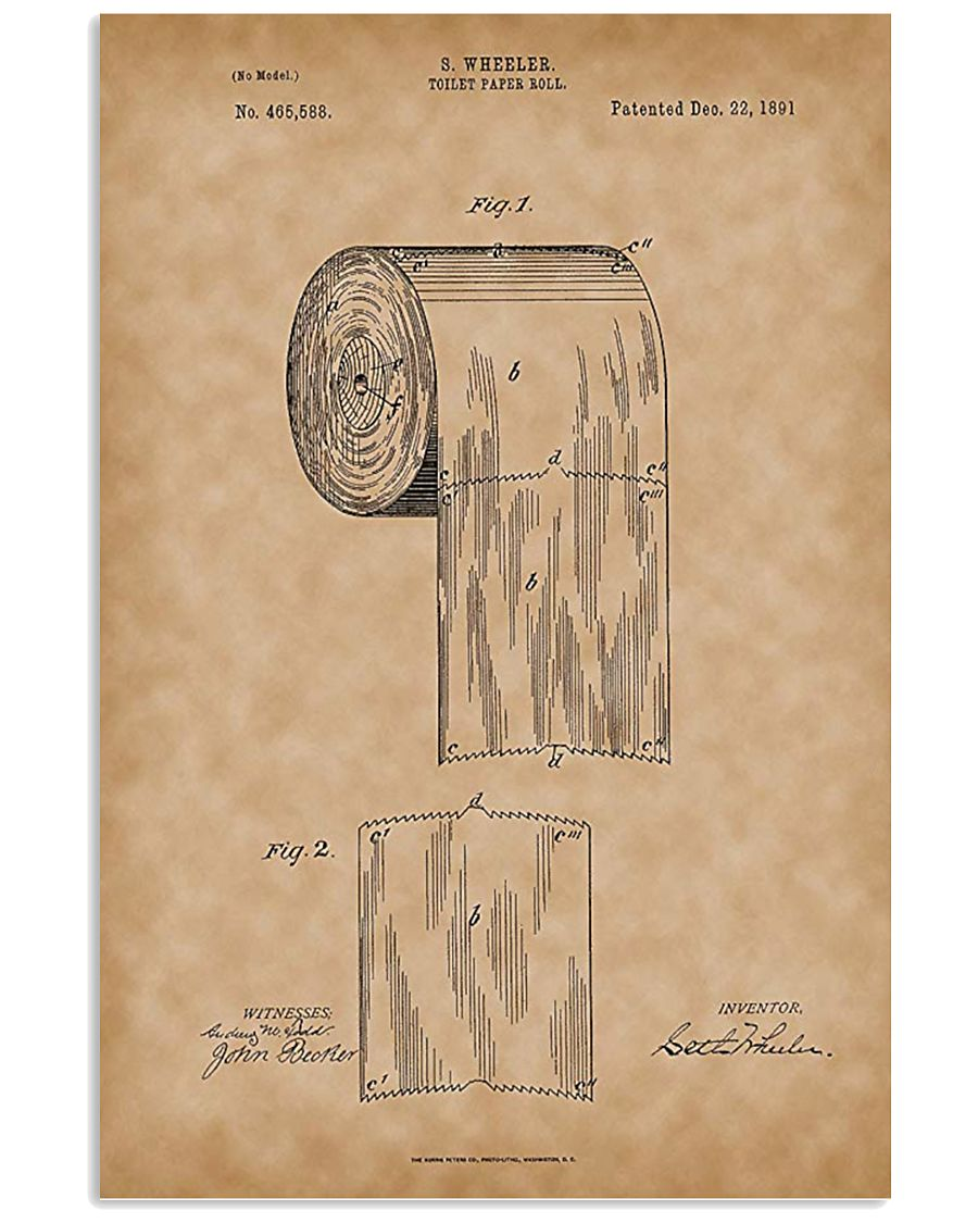 Toilet Paper Roll 1891 11x17 Poster
