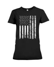 We Are Libertarians Flag Logo Design Premium Fit Ladies Tee thumbnail