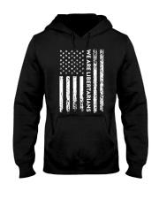 We Are Libertarians Flag Logo Design Hooded Sweatshirt thumbnail