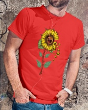 Pug sunflower Premium Fit Mens Tee lifestyle-mens-crewneck-front-4