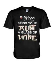 aunt-wine V-Neck T-Shirt thumbnail