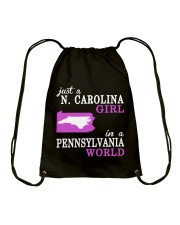 N Carolina - Pennsylvania- Just a shirt - Drawstring Bag thumbnail