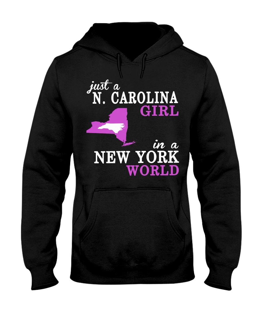 N Carolina - NewYork- Just a shirt - Hooded Sweatshirt