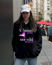 N Carolina - NewYork- Just a shirt - Hooded Sweatshirt lifestyle-unisex-hoodie-front-5