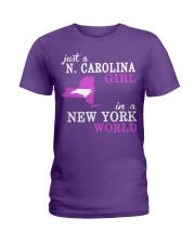 N Carolina - NewYork- Just a shirt - Ladies T-Shirt thumbnail