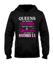 Queens - November 15 Hooded Sweatshirt front