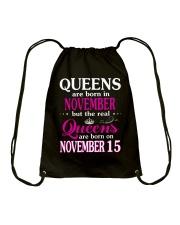 Queens - November 15 Drawstring Bag thumbnail