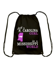 N Carolina - Mississippi - Just a shirt - Drawstring Bag thumbnail