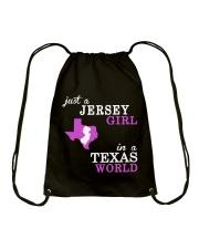 New Jersey -Texas - Just a shirt - Drawstring Bag thumbnail