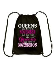 Queens - November 08 Drawstring Bag thumbnail