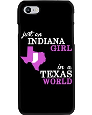 Indiana - Texas Just a shirt -  Phone Case tile