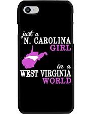 N Carolina - West Virginia - Just a shirt - Phone Case tile