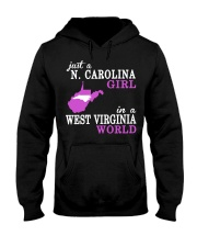 N Carolina - West Virginia - Just a shirt - Hooded Sweatshirt front