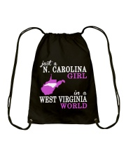 N Carolina - West Virginia - Just a shirt - Drawstring Bag thumbnail