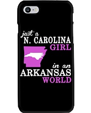 N Carolina - Arkansas - Just a shirt - Phone Case tile