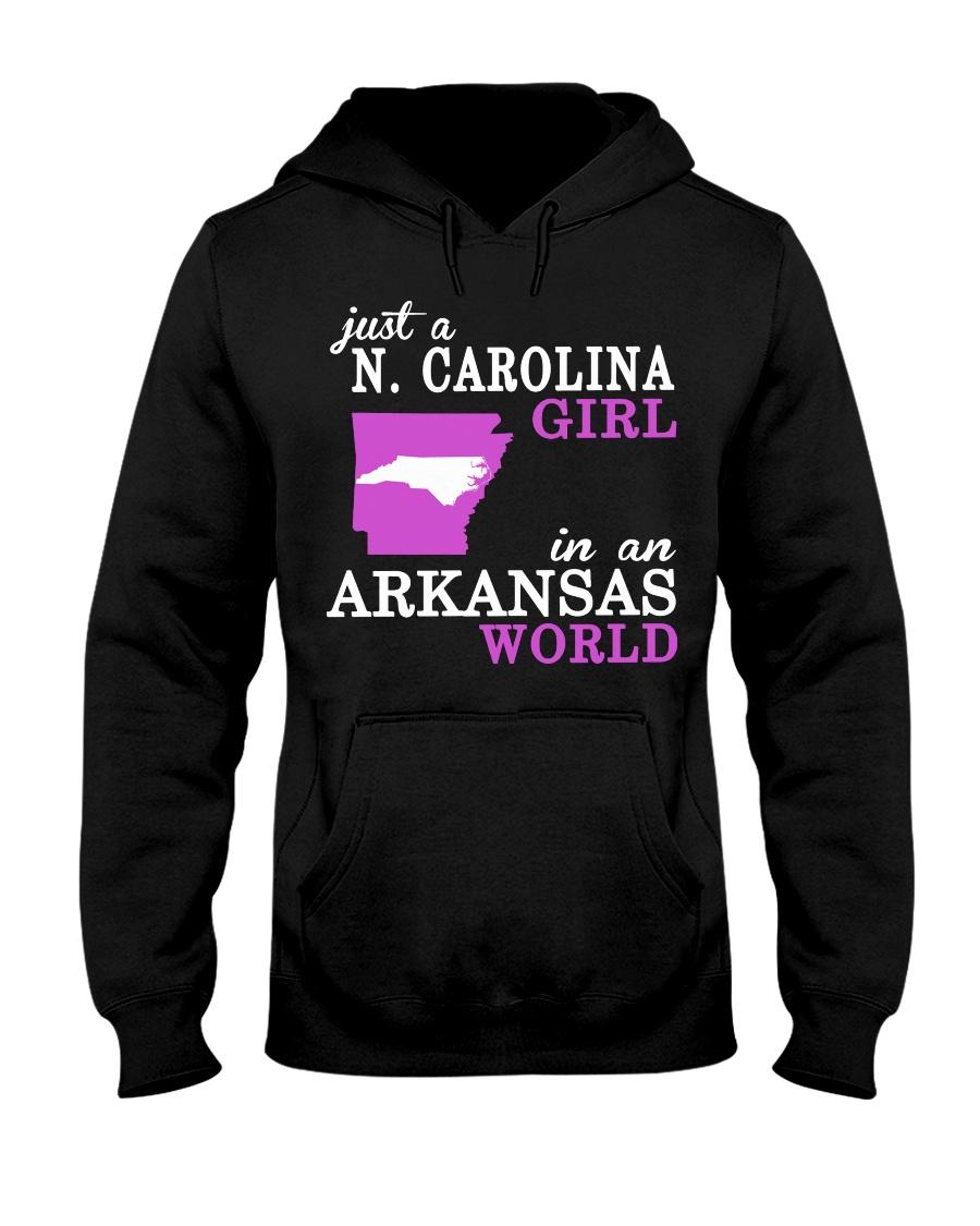 N Carolina - Arkansas - Just a shirt - Hooded Sweatshirt