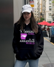 N Carolina - Arkansas - Just a shirt - Hooded Sweatshirt lifestyle-unisex-hoodie-front-5