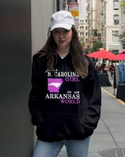 N Carolina - Arkansas - Just a shirt - Hooded Sweatshirt lifestyle-unisex-hoodie-front-5