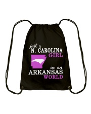 N Carolina - Arkansas - Just a shirt - Drawstring Bag thumbnail