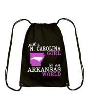 N Carolina - Arkansas - Just a shirt - Drawstring Bag tile