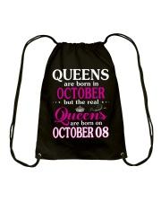 Queens - October 08 Drawstring Bag thumbnail