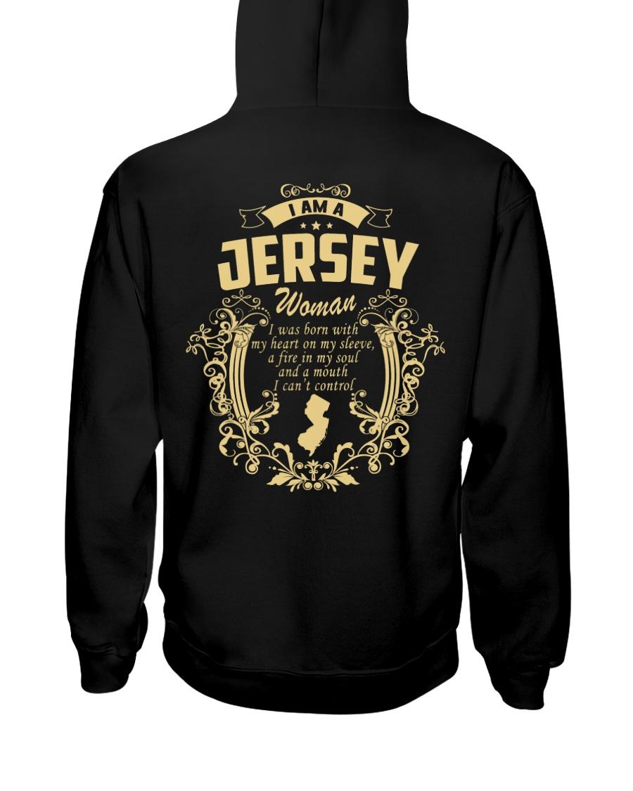 JerSey Girl Woman Tshirt- I cant Control - Hooded Sweatshirt