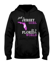 New Jersey -Florida - Just a shirt - Hooded Sweatshirt front
