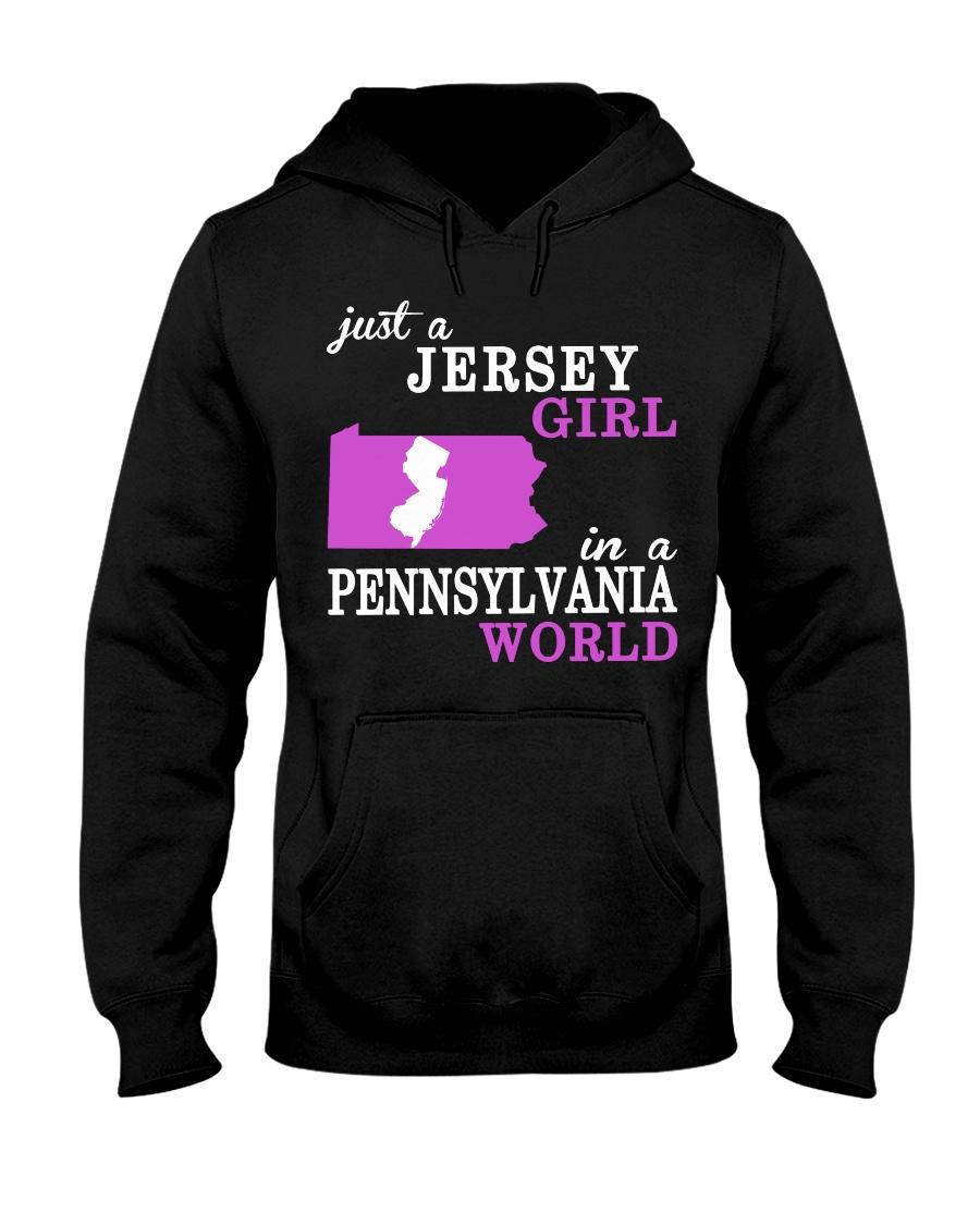 New Jersey -Pennsylvania - Just a shirt - Hooded Sweatshirt