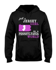New Jersey -Pennsylvania - Just a shirt - Hooded Sweatshirt front