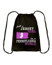 New Jersey -Pennsylvania - Just a shirt - Drawstring Bag thumbnail