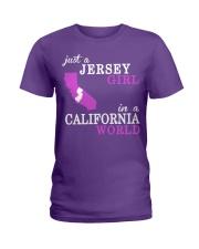 New Jersey -California- Just a shirt - Ladies T-Shirt thumbnail