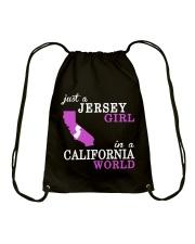 New Jersey -California- Just a shirt - Drawstring Bag thumbnail