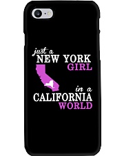 Just a New York Girl in a California world -  Phone Case tile