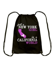 Just a New York Girl in a California world -  Drawstring Bag thumbnail