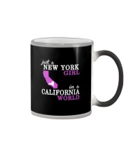 Just a New York Girl in a California world -  Color Changing Mug thumbnail