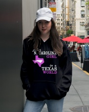 N Carolina - Texas - Just a shirt - Hooded Sweatshirt lifestyle-unisex-hoodie-front-5