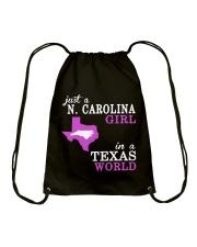 N Carolina - Texas - Just a shirt - Drawstring Bag thumbnail