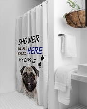 SHOWER PUG  Shower Curtain aos-shower-curtains-71x74-lifestyle-front-03