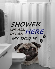 SHOWER PUG  Shower Curtain aos-shower-curtains-71x74-lifestyle-front-04