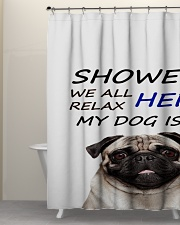 SHOWER PUG  Shower Curtain aos-shower-curtains-71x74-lifestyle-front-05