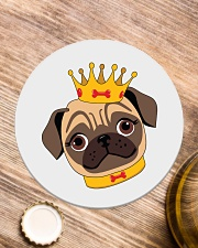 pug royal Circle Coaster aos-coaster-round-front-lifestyle-1