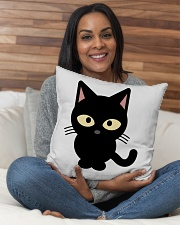 "cat inddor pillow Indoor Pillow - 16"" x 16"" aos-decorative-pillow-lifestyle-front-11"