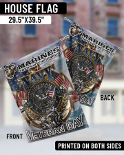 """Veteran Marines US Garden and House Flag 29.5""""x39.5"""" House Flag aos-house-flag-29-5-x-39-5-ghosted-lifestyle-05"""