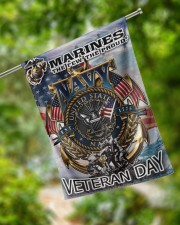 """Veteran Marines US Garden and House Flag 29.5""""x39.5"""" House Flag aos-house-flag-29-5-x-39-5-ghosted-lifestyle-17"""